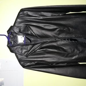 NEW EAST 5TH WOMAN BLACK LEATHER JACKET